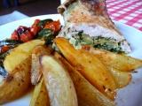 Kuře se špenátovou nádivkou recept
