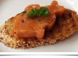 Tataráček z lososa recept