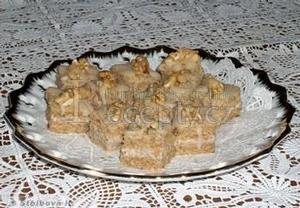 Ořechové řezy ledové  cukroví