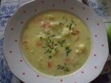 Květákovo-pórková polévka s nivou recept