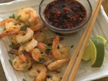 Česnekové krevety s chilli dipem