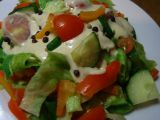 Zdravý a dobrý salát s dipem recept
