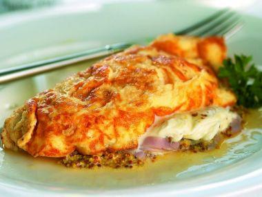 Recept Šunková omeleta
