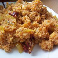 Cibulový kuskus se sušenými rajčátky recept
