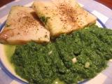 Bleskové filé se špenátem recept