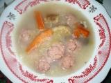 Zimní polévka se šťávou z kyselého zelí recept