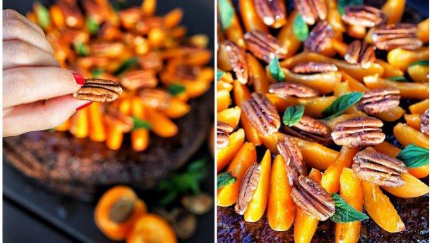 Cuketový dort s meruňkami