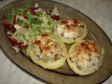 Bramborové lodičky s makrelou recept