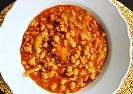 Cizrnovo-fazolová pánev podle Eduarda recept