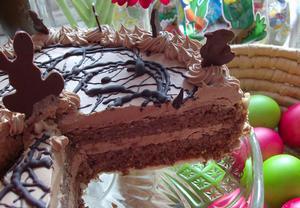Velikonoční oříškový dort