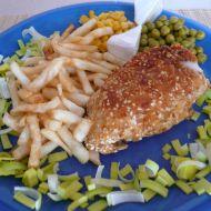 Kuřecí závitek v sezamu recept