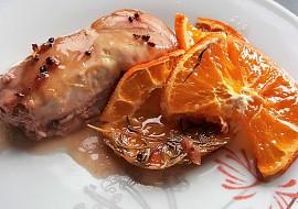 Kuře na pomerančích s brusinkami recept