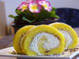Piškotová roláda s karamelovou šlehačkou recept