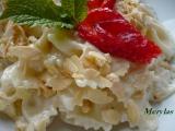 Těstoviny s vanilkovým jogurtem a ovocem recept