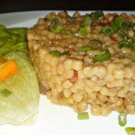 Tarhoňa s čerstvou kapii a jarní cibulkou recept