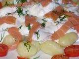 Bramborové gnocchi s uzeným lososem recept