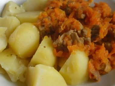 Vepřová krkovička s mrkví