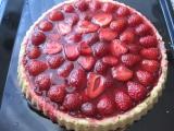 Skleněný jahodový koláč recept