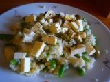 Kuskus s fazolkami a balkánským sýrem recept