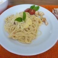 Smetanové špagety carbonara recept