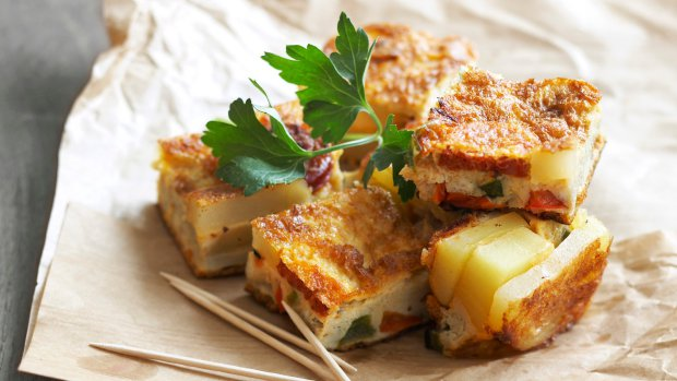 Tortilla s chorizem a paprikou