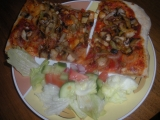 Pizza s houbami recept