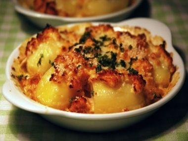 Zapečené brambory ve smetaně se zeleninou