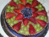 Čokoládový dort s tyčkami a ovocem recept