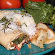 Palačinky plněné masem a špenátem recept