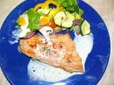 Losos s grilovanou zeleninou a smetanou recept