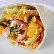 Pikantní tortilla s lososem a pomerančem recept