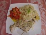 Kuřecí plátek s dušenou mrkví a těstovinou recept