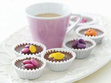 Čokoládové košíčky s ořechy