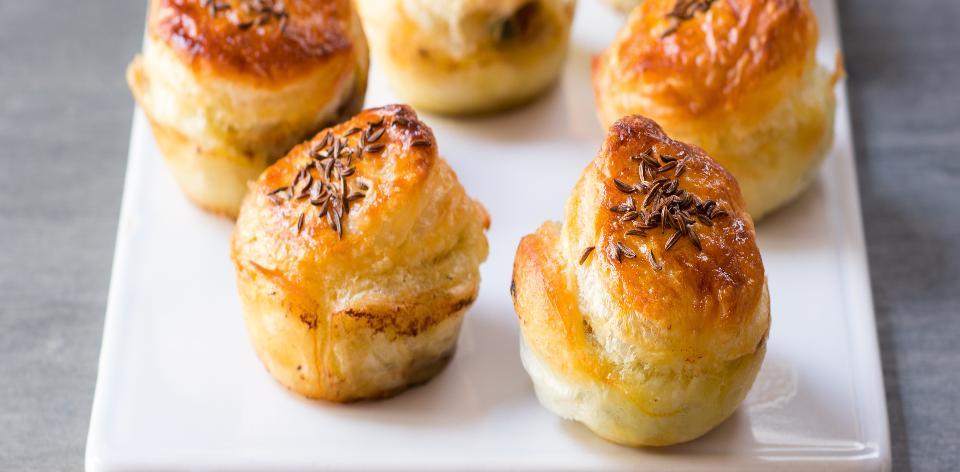 Pečené houbové muffiny