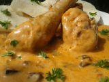 Kuřecí paličky s omáčkou z nakládaných hub recept