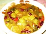 Dýňový guláš s fazolí recept