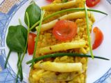 Rýže s červenou čočkou a fazolkami recept