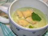 Brokolicový krém se sýrovými krutony recept