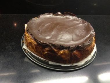 Nepečený čokoládový chesscake