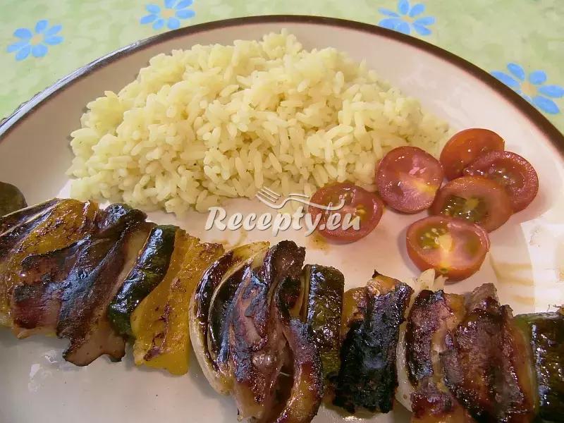 Pikantní špíz s játry recept  vepřové maso