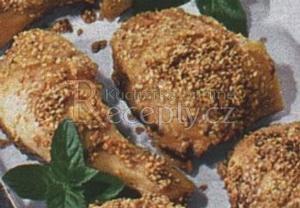 Kuřecí stehna v sezamu
