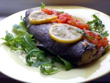 Pečená ryba po řecku