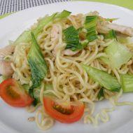 Krůtí kousky s čínským zelím Pak choi recept