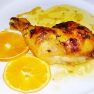 Pečená kuřecí stehno na másle, pomerančích a tymiánu recept ...