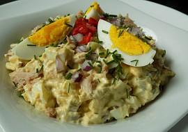 Vajíčkový salát s tuňákem recept