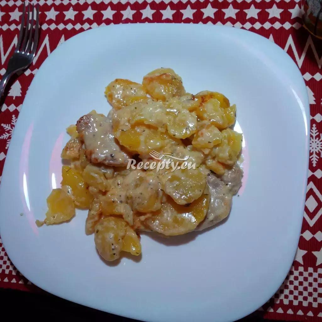 Smetanové brambory s vepřovým masem recept  vepřové maso ...