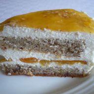 Tvarohový dort z mandlového těsta recept
