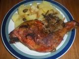 Kuře s houbami recept