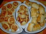 Slané variace z listového těsta recept