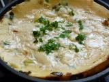 Pórková omeleta recept